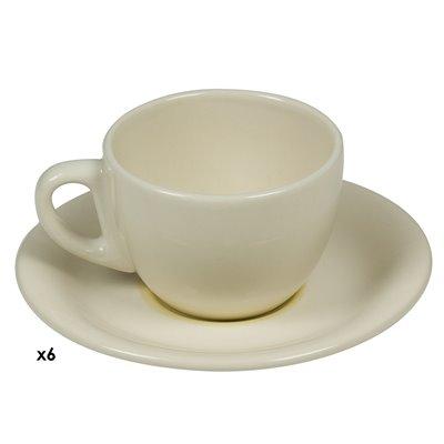 6er Set Tassen Kaffee Spirale Senf