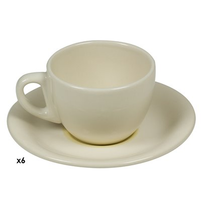 Set of 6 mugs coffee spiral Mustard
