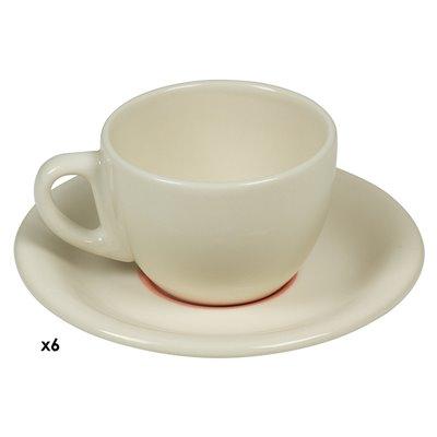Set of 6 mugs coffee pink Spiral