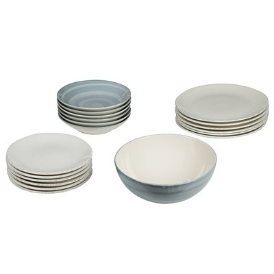 19 pieces Tableware blue Twist