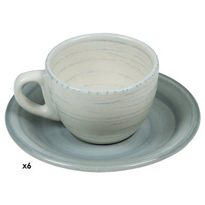 Conjunto de 6 tazas café Twist azul