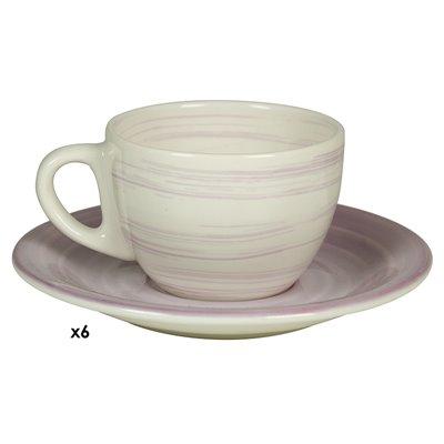 Conjunto de 6 tazas café Twist lila