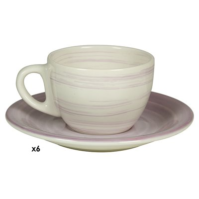 Set of 6 cups coffee Twist lilac
