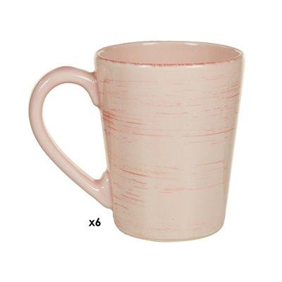 Conjunto de 6 tazas Mare rosa