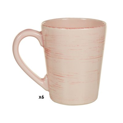 Set of 6 cups pink Mare