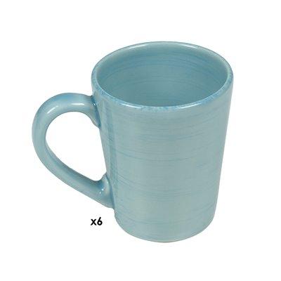 Conjunto de 6 tazas Mare azul