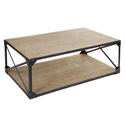 Mesa de centro madeira e metal