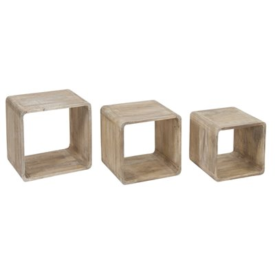 Set of 3 wooden cubes