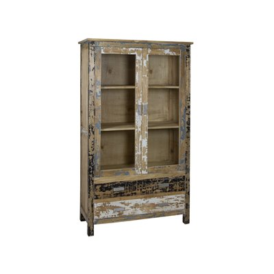 Pickled wood cabinet 2 doors