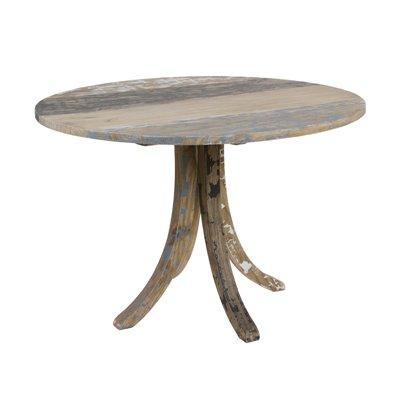Mesa redonda madera decapada