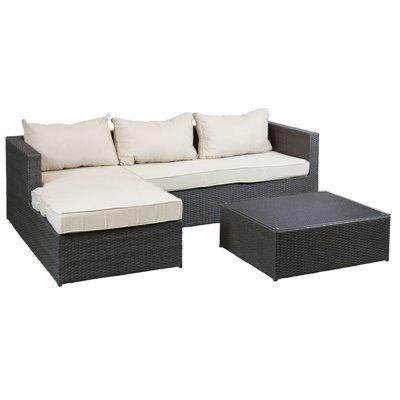 3 Stück Sofa mit Tisch