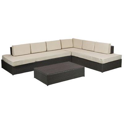 Conjunt sofàs amb taula
