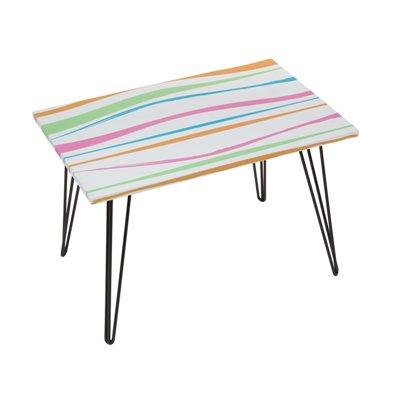 Mesa rectangular con rayas
