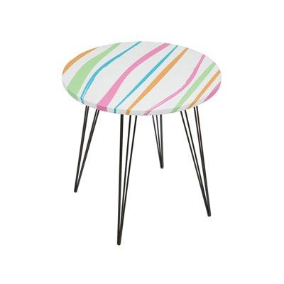 Mesa redonda rayas colores