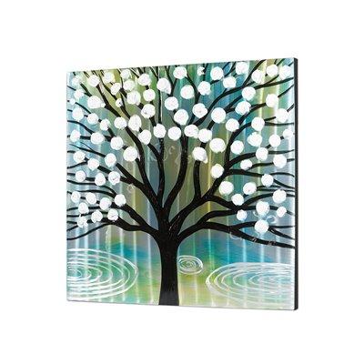 Cuadro óleo y aluminio árbol