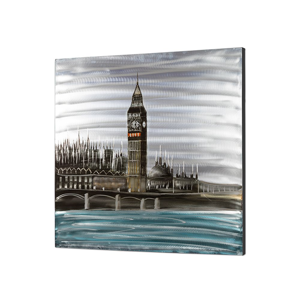 Cuadro óleo y aluminio Londres