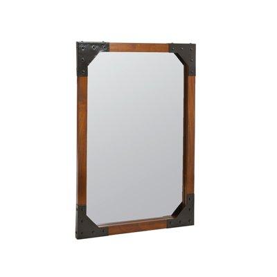 Wandspiegel, Holz und Metall