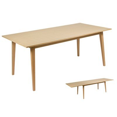Wood extending table