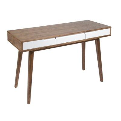 Wood writing desk