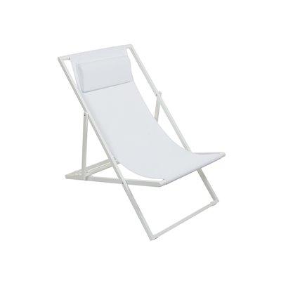 Cadeira de brazos de xardín branco