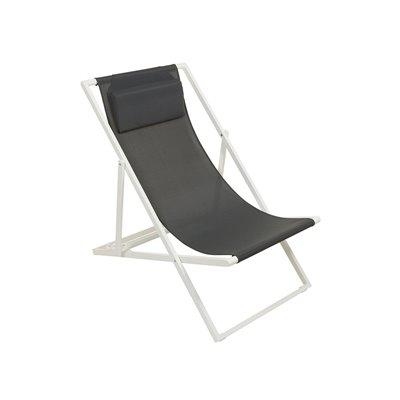 Cadeira de brazos de xardín gris