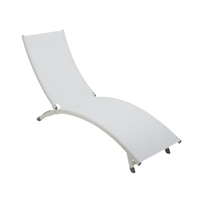 Tumbona de aluminio blanca