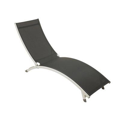 Chaise longue en aluminium gris foncé