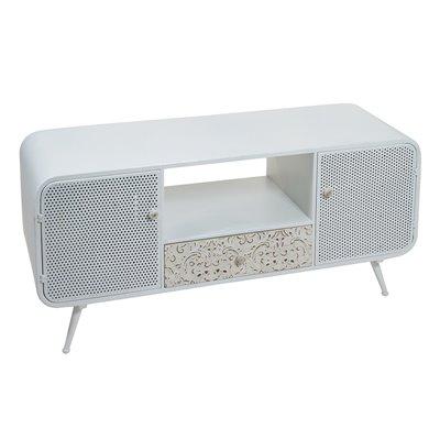 Table TV Fez white metal