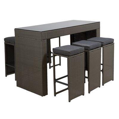 Conjunto de 7 peças para terraço / jardim varanda Bar