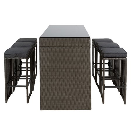 Set of 7 pieces for terrace Balcony Bar