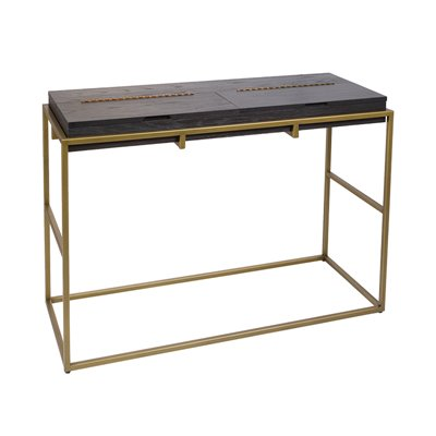 Balford black Console table