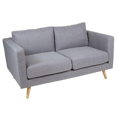 Sofá 2 plazas gris Tenas