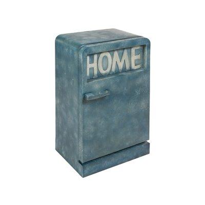 Vintage blue metal cabinet