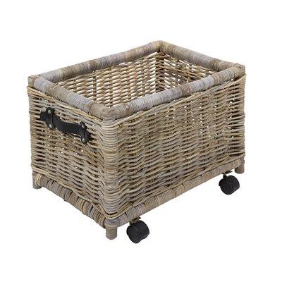 Rattan handles basket