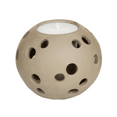 Terracotta candle taupe