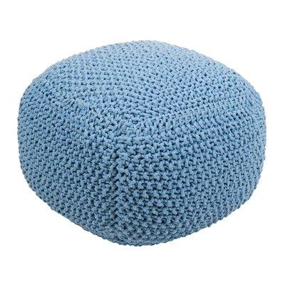 Puff trenzado azul