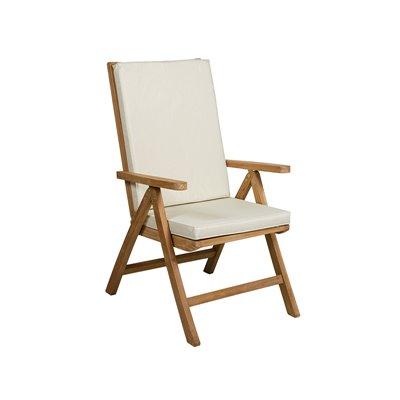 Silla teca natural reclinable