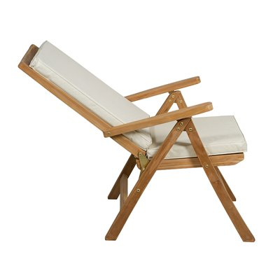Silla teca natural reclinable