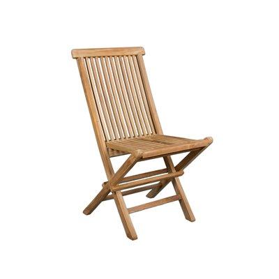 Cadira plegable de teca 89x47x43 cm