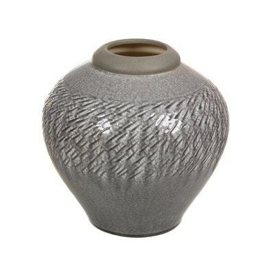 Jarrón de cerámica gris claro