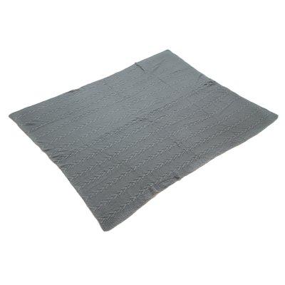 Graue gestrickte Decke
