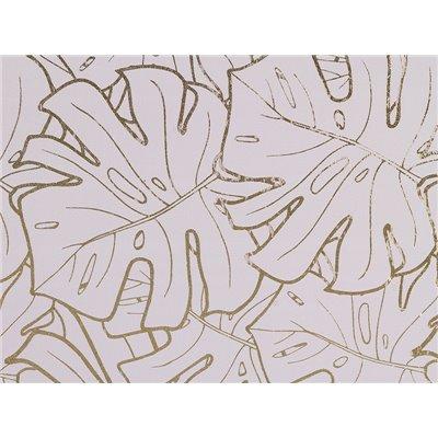 Cuadro hojas gris