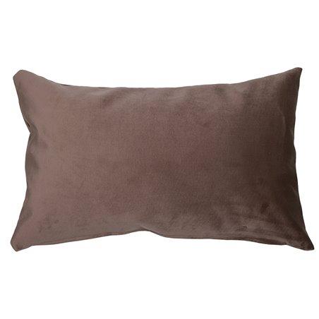 Cojín Velvet marrón 30x50 cm