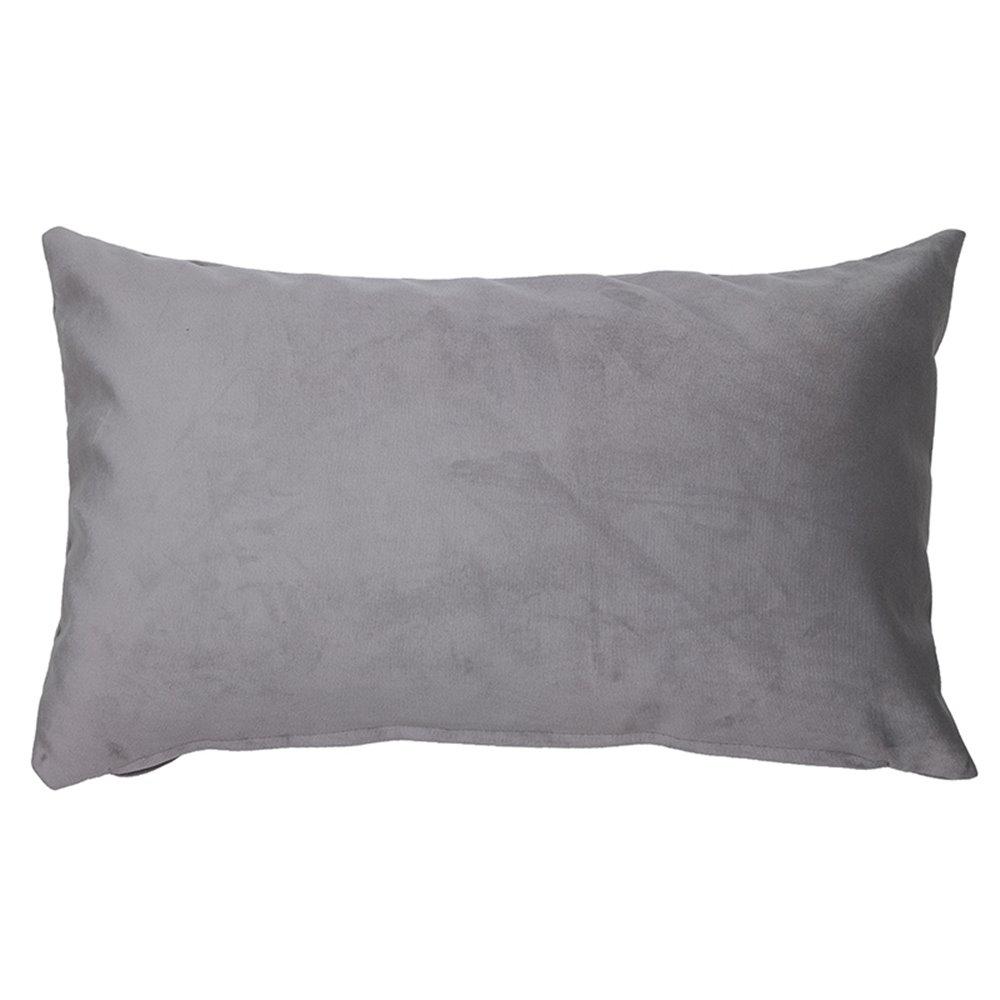 Cojín Velvet gris 30x50 cm
