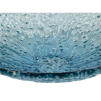 Centro de mesa rústico 42 cm azul