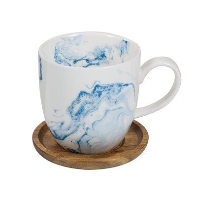 Taza con posavasos Aqua