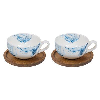 Conjunto de 2 tazas Aqua