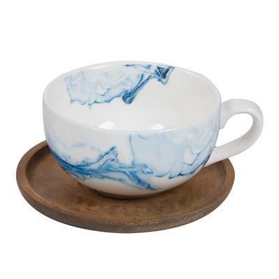 Taza de té con plato Aqua