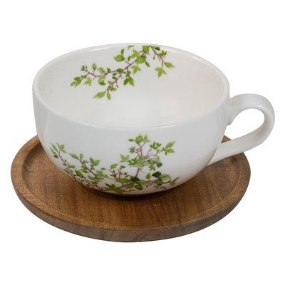 Taza té con plato Natura