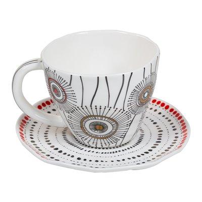 Taza de té organic blanca